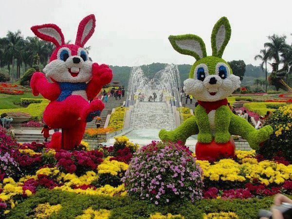Rzeźby z kwiatów