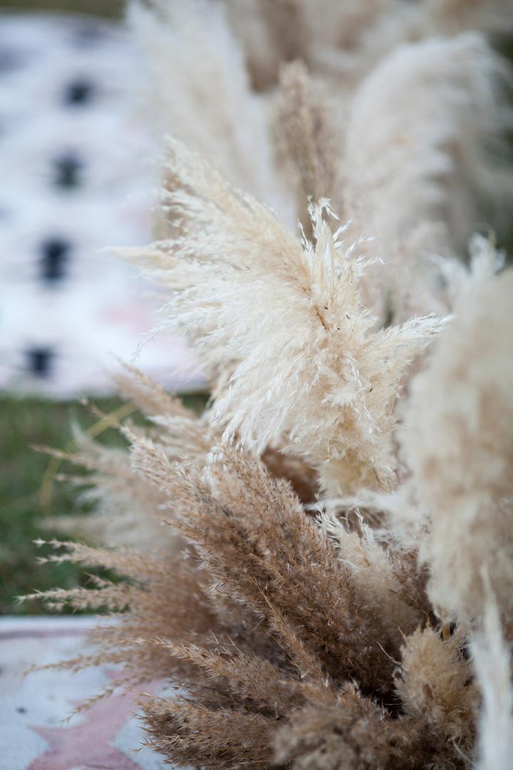 nowy trend weselny z trawą pampas