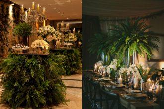 Zielona dekoracja wesela