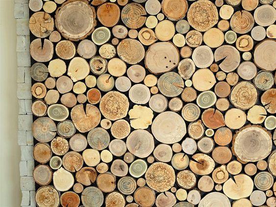 Nietuzinkowe Dekoracje Z Plastrami Drewna