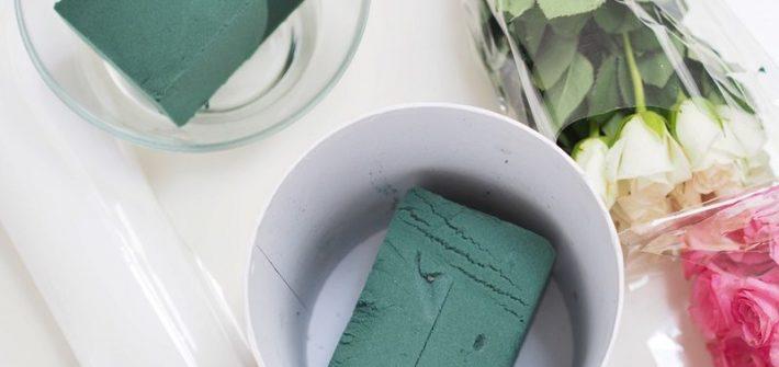 Jak uzywać gąbkę florystyczną